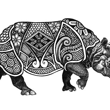Tribal Rhino by K80designs by azurepro