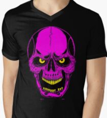 NEON PINK SKULL - Art By Kev G Men's V-Neck T-Shirt