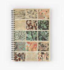 Crystals Print - Geologie Print - Vintage Französisch Wissenschaft Journal Spiralblock