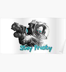 """#RBSTAYCAY """"Bleib Frosty!"""" Herr Freeze Poster"""