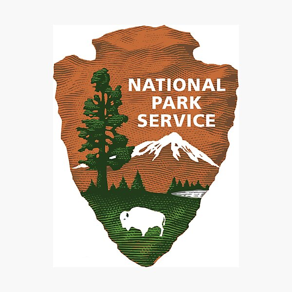 National Park Service Logo Photographic Print