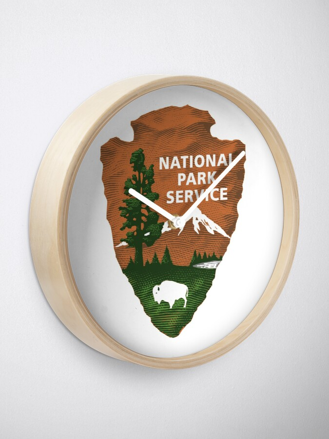 Alternate view of National Park Service Logo Clock