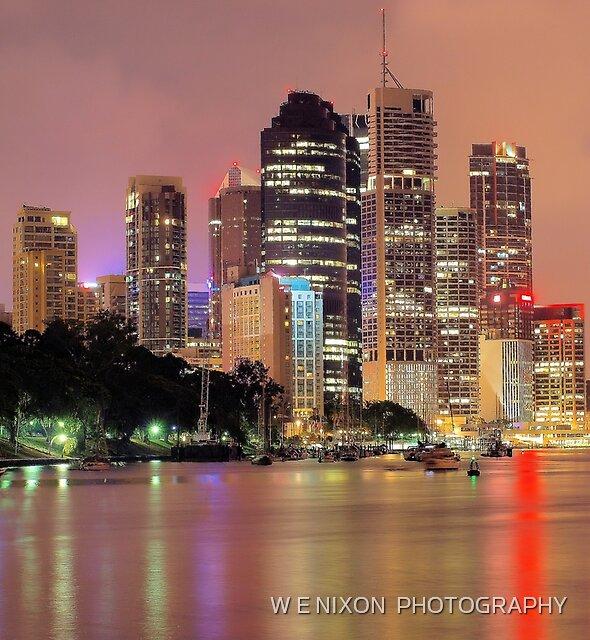Brisbane City by W E NIXON  PHOTOGRAPHY