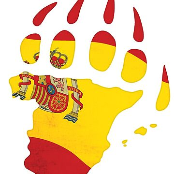 Spanish flag bear paw by BearYourArt