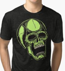 DAY GLO CRANIUM - Art By Kev G Tri-blend T-Shirt