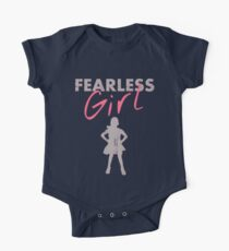 FEARLESS GIRL - Original Grey/Pink One Piece - Short Sleeve