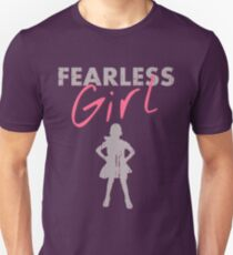 FEARLESS GIRL - Original Grey/Pink Unisex T-Shirt