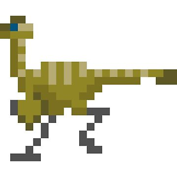 Pixel Gallimimus  by leviadraconia
