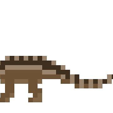 Pixel Sauropod by leviadraconia