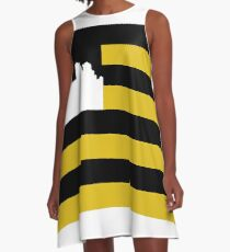 Pittsburgh Flag A-Line Dress