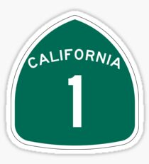 California 1 State Highway - PCH Sticker