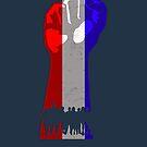 Red White und Blue Resist Fist Handeln von electrovista