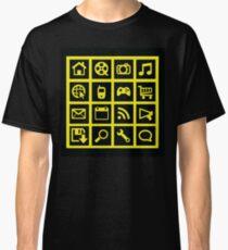 Web icon graphics (black) Classic T-Shirt