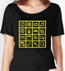 Web icon graphics (black) Women's Relaxed Fit T-Shirt