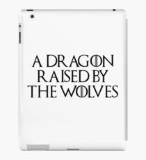 Dragon Raised by the Wolves (white) iPad Case/Skin