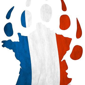 French flag bear paw by BearYourArt