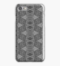 Pattern - Lattice Black & White Fibers iPhone Case/Skin