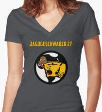Jagdgeschwader 27 Women's Fitted V-Neck T-Shirt