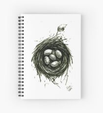 A Bird's Nest Spiral Notebook