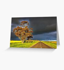 1596 Country Road Greeting Card