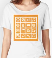 Web icon graphics (orange) Women's Relaxed Fit T-Shirt