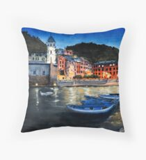 Verrnazo Italy at twilight Throw Pillow