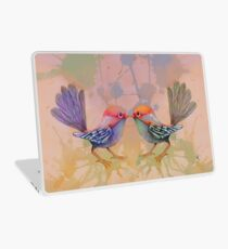 little love birds pink Laptop Skin