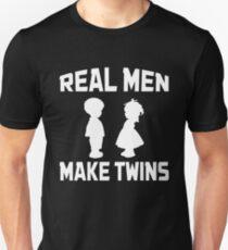Real Men Make Twins Funny Dad Unisex T-Shirt