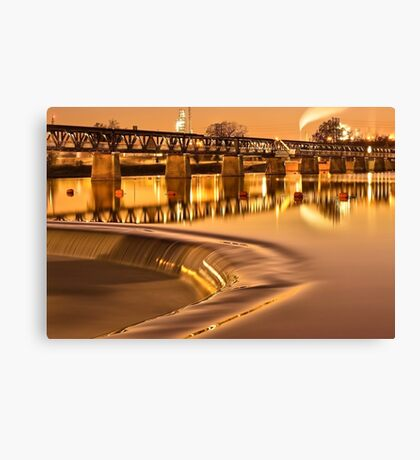 Liquid Gold - The 21st Street Bridge  Canvas Print