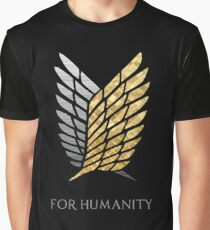 Survey Corps Gold Silver Graphic T-Shirt