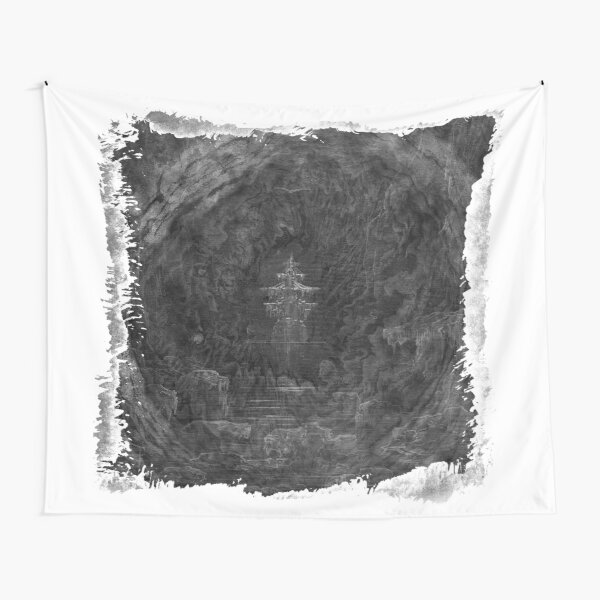 The Atlas of Dreams - Plate 25 (b&w) Tapestry