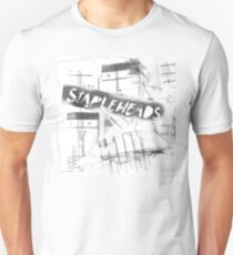 """The Stapleheads Band T-Shirt/Poster - """"Television/Dry logo"""" Unisex T-Shirt"""