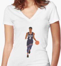 Jaylen Hands USA Women's Fitted V-Neck T-Shirt