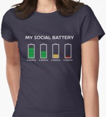 Funny Introvert Humor T-Shirt Women's Fitted T-Shirt