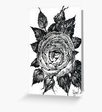 Rose. Graphics Greeting Card