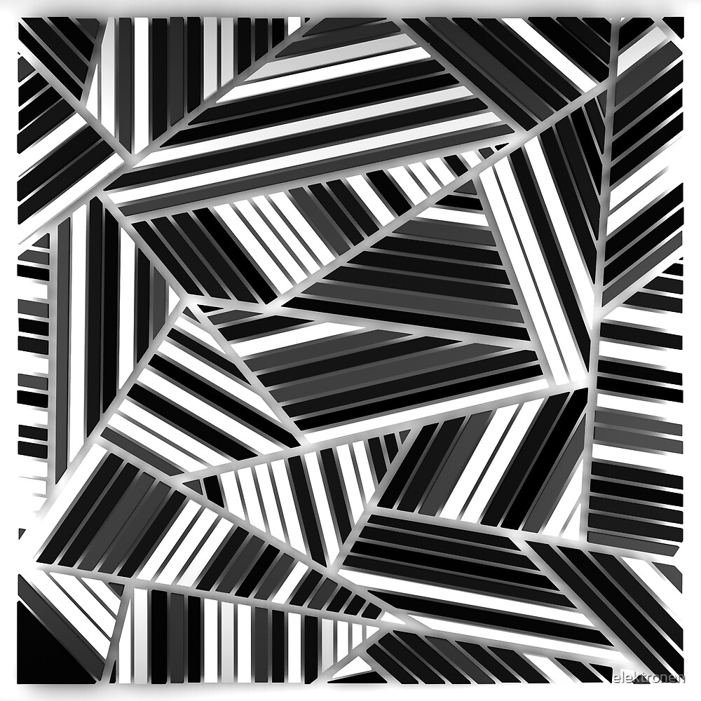 Triangles Black & White 2 by elektronen