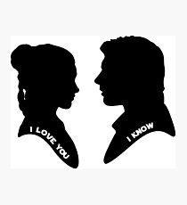 Han and Leia Photographic Print