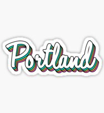 portland white retro Sticker