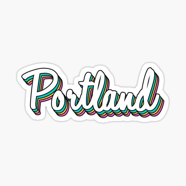 portland white retro Sticker