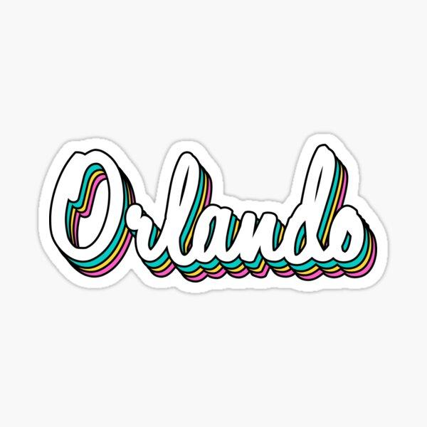 Orlando white retro Sticker