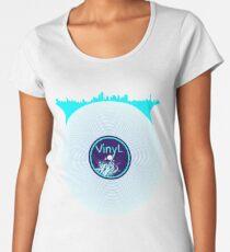 New York City Scape Vinyl DJ Women's Premium T-Shirt