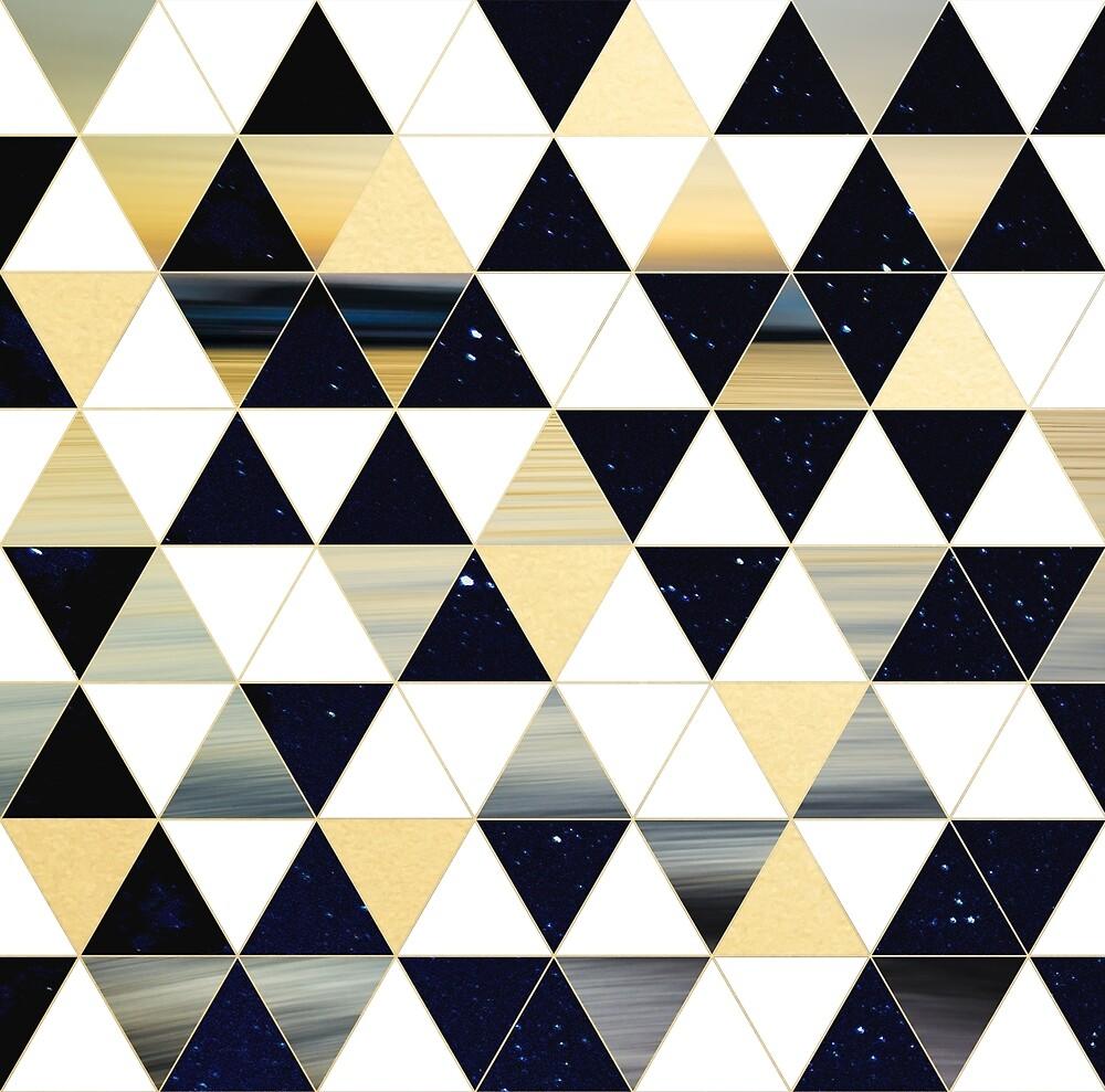Sky Water Triangles  by starkle