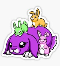 Rainbow Bunny Family Sticker