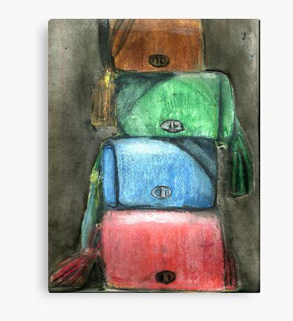 Stack Of Handbags Canvas Print