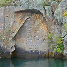 Maori Rock Carvings - Mine Bay by Graeme  Hyde