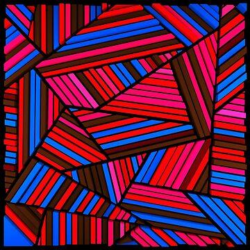 Striped Triangles by elektronen