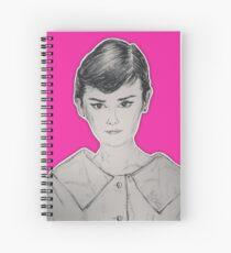 (Beauty Queen - Audrey Hepburn) - yks by ofs珊 Spiral Notebook