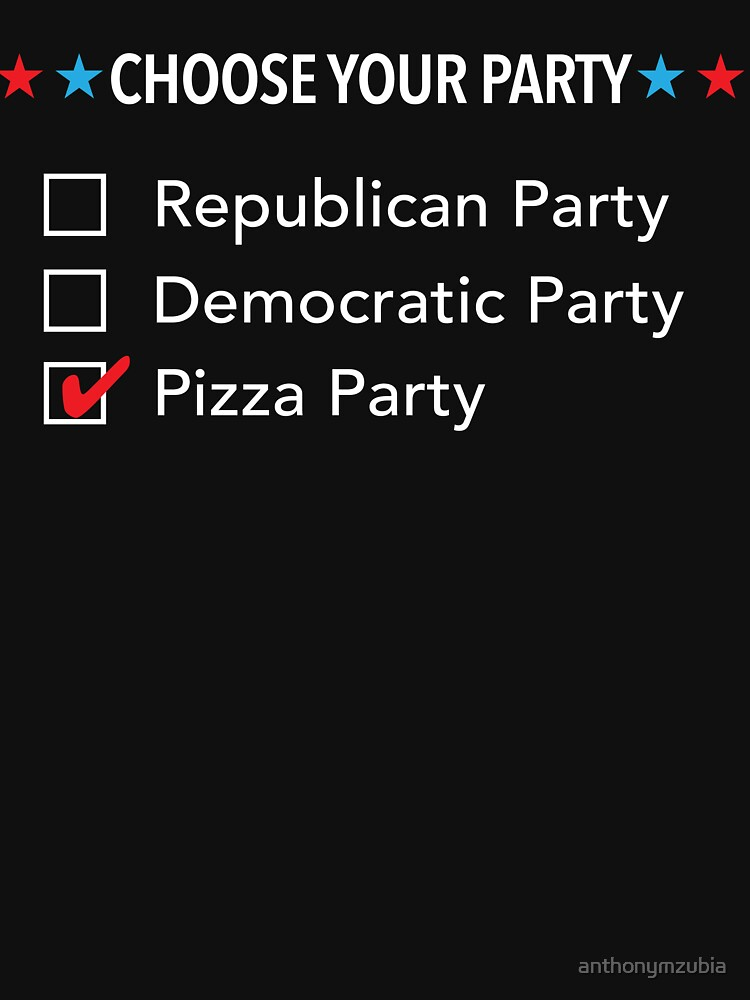 Choose Your Party: Republican Democratic Pizza by anthonymzubia