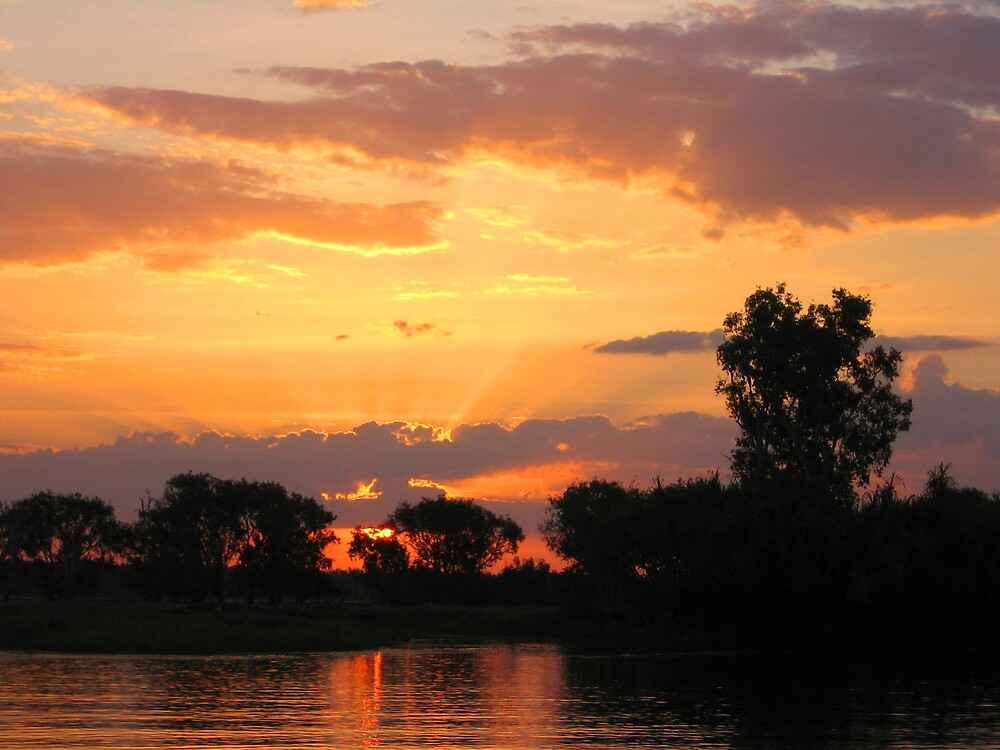Kakadu's Sunset by SinaStraub