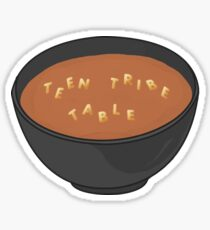Teen Tribe Table Alphabet Soup Sticker
